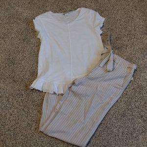 NWT GAP utility wide leg  linen pants 0